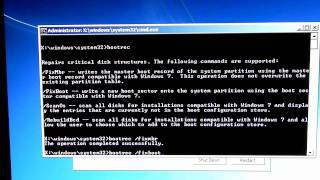Fix the Windows 7 Bootloader using a Windows Recovery Disc