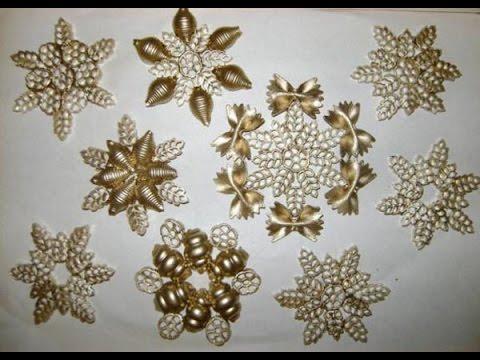 Очень красивые и нежные снежинки из макарон своими руками
