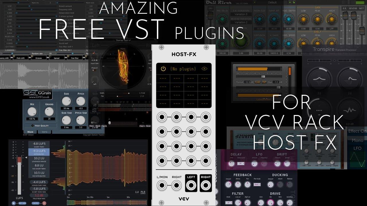9 Super Useful FREE VST Plugins for VCV Rack HOST FX module