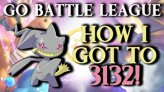 GO Battle League: Getting To 3132 (#24 Global Rank) Team! (Great League)