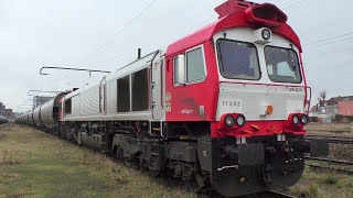 Euro Cargo Rail & VFLI Class 66 & 77's in France, Including stored class 58's - 5/2/17