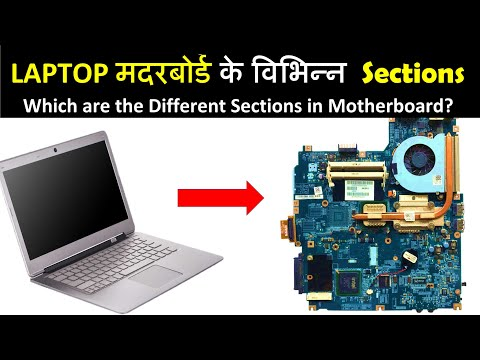 Different Sections of Laptop Motherboard | लैपटॉप मदरबोर्ड के विभिन्न वर्ग