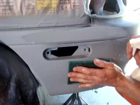 How to spray primer on car