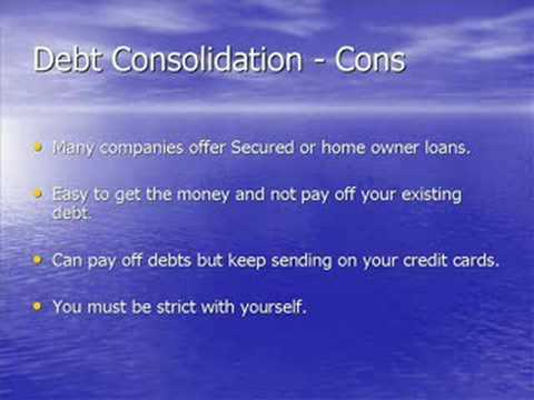 Debt Consolidation Loans - What You Need To Know.
