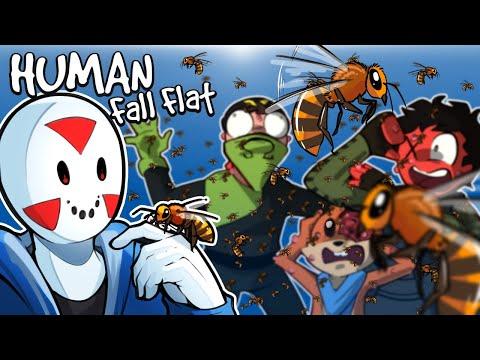 "Human Fall Flat - WE HAVE TO ""BEE"" CAREFUL! (Custom Map)"