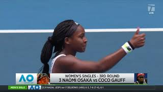 Tennis Channel Live: Naomi Osaka vs. Coco Gauff 2020 Australian Open Third Round Preview