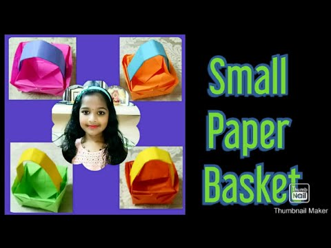 How to make a Easy Small  Paper Basket- DIY Paper Basket