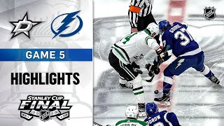NHL Highlights | Stanley Cup Final, Gm5 Stars @ Lightning - Sept. 26, 2020