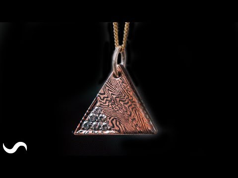 MOKUME GANE PENDANT!!! Copper and Nickel Damascus!