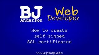 كيفية إنشاء شهادات SSL موقعة ذاتيا