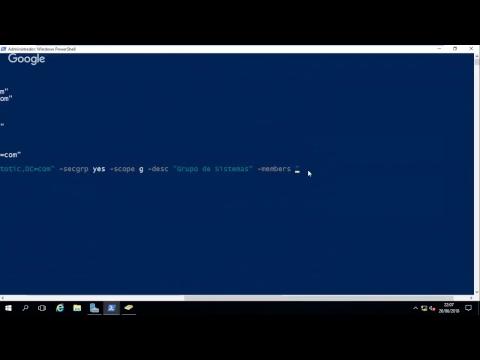 32 Windows 2016 - Gestión de Objetos del AD Power Shell - Crear Grupo con dsadd