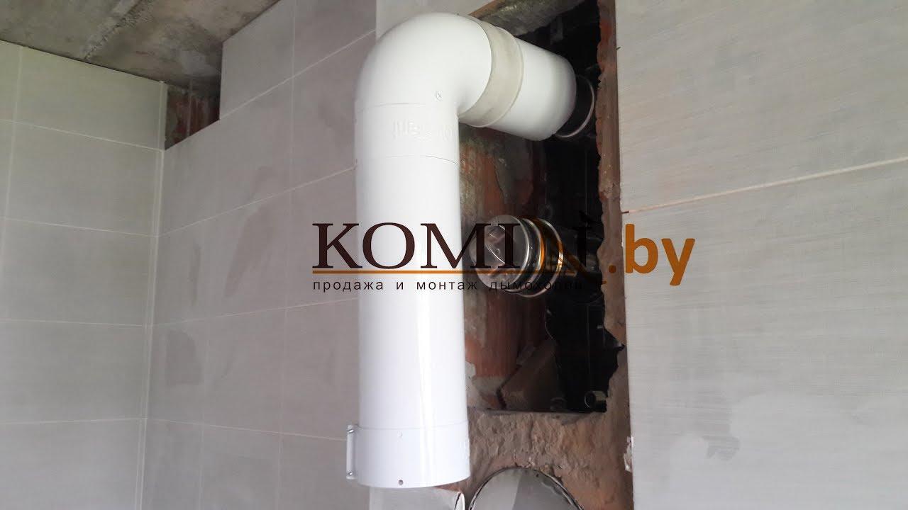 Монтаж дымохода из нержавеющей стали для камина Kratki Zuzia 16kw .