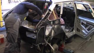 Кузовной ремонт. ВАЗ 2114, меняем заднее крыло#2. Body repair.