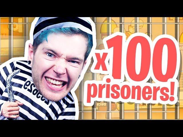 100 PRISONERS IN MY PRISON!   Prison Architect Part 4