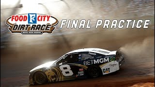 NASCAR Cup Series Final Practice from Bristol Dirt | Cup Series Full Practice (No broadcast audio)