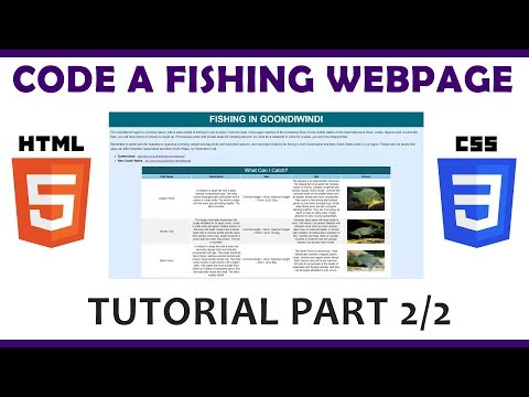 Code A Fishing Web Page Using HTML & CSS (Part 2/2)