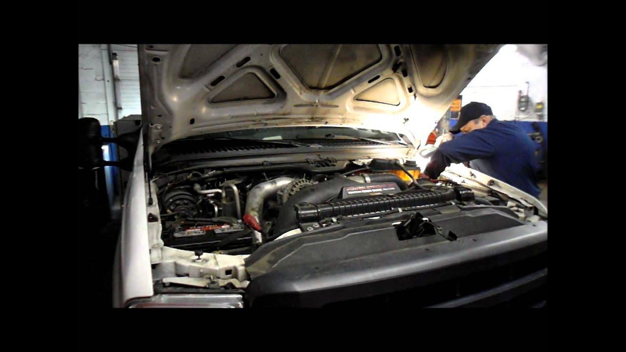 How To Replace Duel Batterys On A Ford F Series Diesel Youtube 2008 R350 Fuse Box