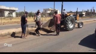 حملة تنظيف في بلدة أم ولد من مخلفات الغارات الجوية