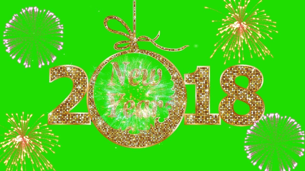 green screen footage happy new year 2018 green screen blue screen