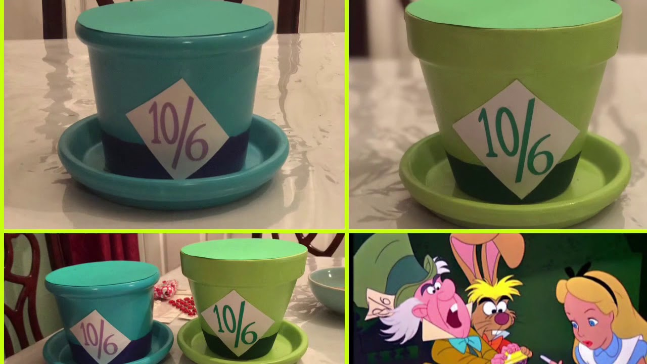 Diy Alice In Wonderland Decoration Mad Hatter Youtube