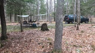 Camping and Fishing Stokes State Forest (April 2017)