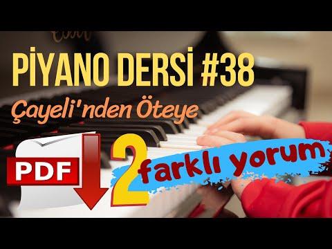"""Piyano Dersi #38 - Çayeli'nden Öteye (Orta Seviye Piyano Kursu) """"Piyano Nasıl Çalınır"""" from YouTube · Duration:  17 minutes 36 seconds"""