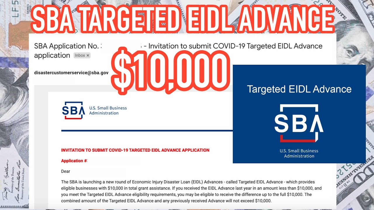 Targeted EIDL Advance • $10,000 in 21 DAYS! (New Portal Explained) 💰