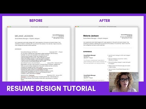 UX Designer Resume Tutorial: Tips To Layout & Design Your Resume Or CV | Sarah Doody, UX Designer