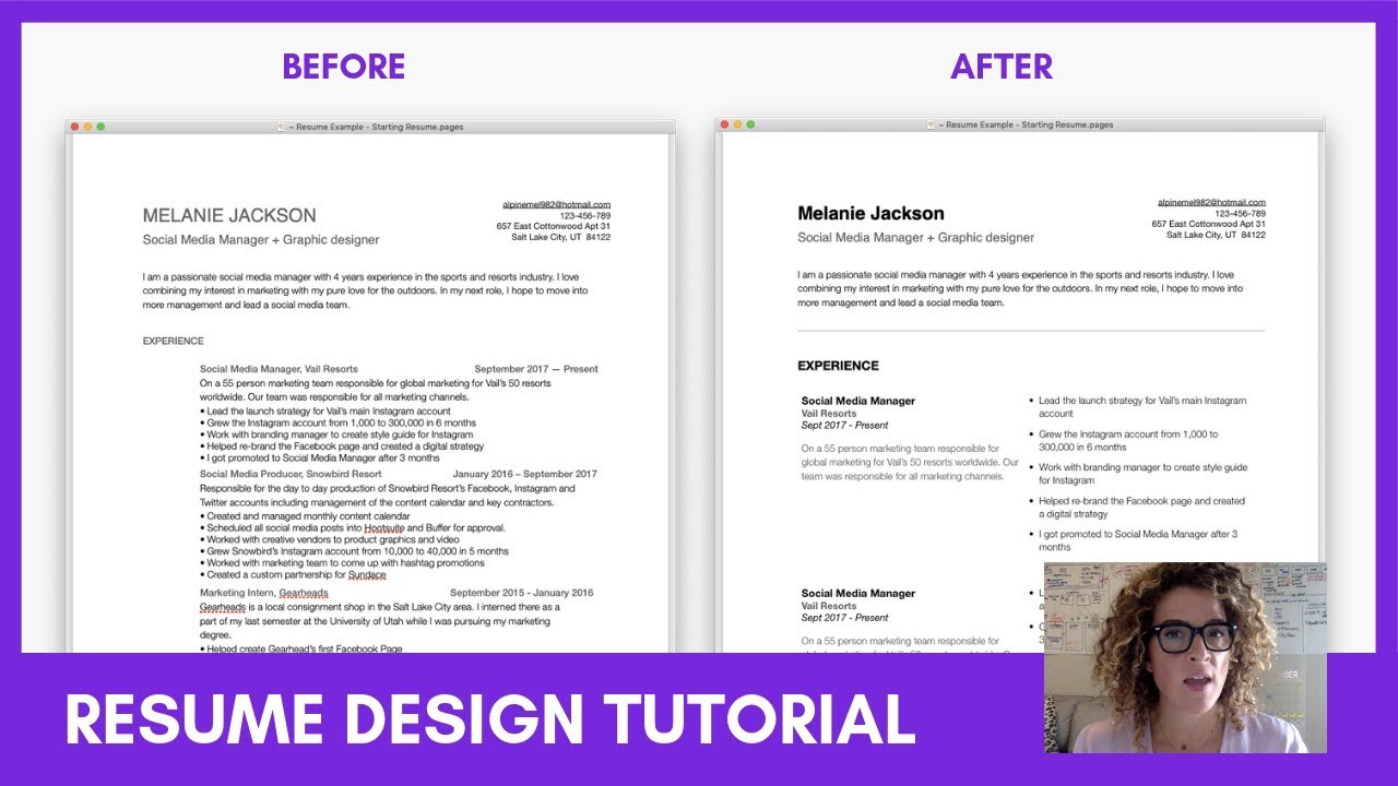 Ux Designer Resume Tutorial Tips To Layout Design Your Resume