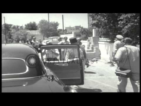 General Adams, Ambassadors McClintock and Robert Murphy and General Chehab meet i...HD Stock Footage