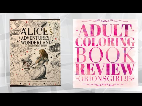 Alices Adventures in Wonderland Coloring Book Review
