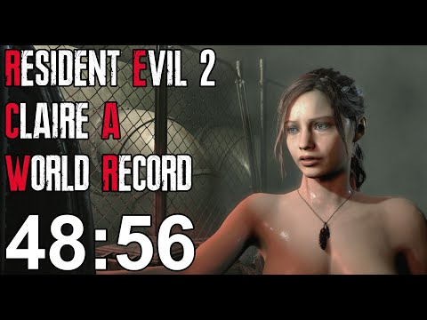 Resident Evil 2 Remake - Claire A Speedrun World Record - 48