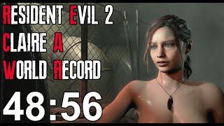 Resident Evil 2 Remake - Claire A Speedrun World Record - 48:56