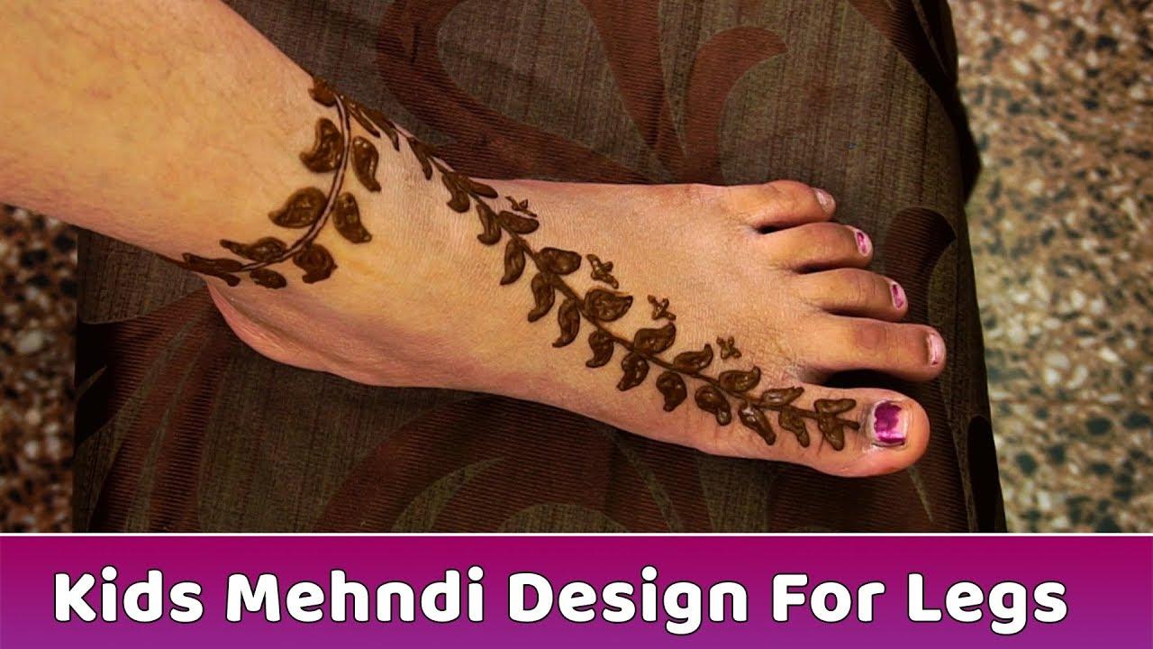 Kids Mehndi Design For Legs Beautiful Mehndi Heena Designs Tutorial Mehendi Step By Step Youtube,Funeral Program Burial Programme Cover Design