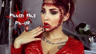 Pinned Face Pin Up: Halloween Tutorial