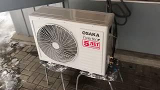 Кондиционер OSAKA инвертор работа на тепло  видео обзор от интернет магазина Holner