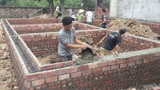Technology Building Traditional Concrete Beams Foundation - Houses Construction