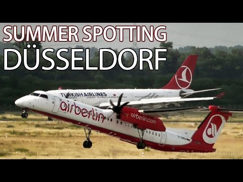 25+ Minutes of Summer Plane Spotting | Düsseldorf Airport - DAY 1 | Runway 23 Ops