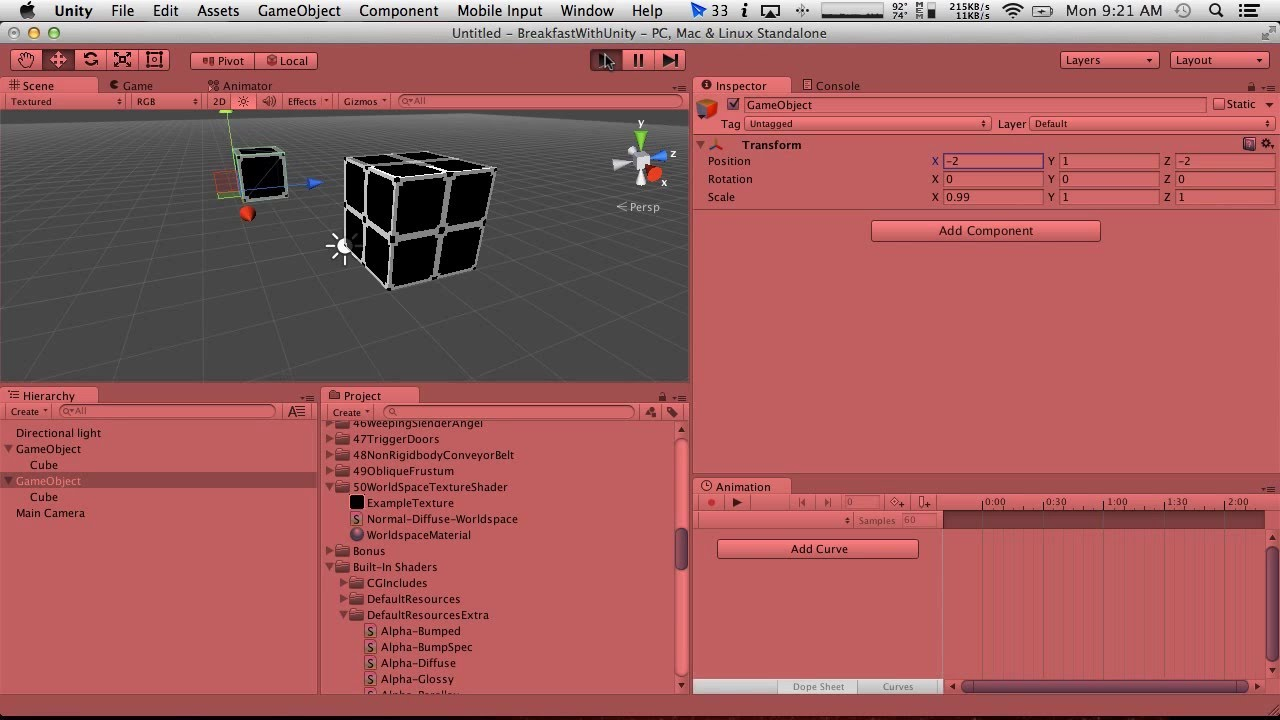 Breakfast With Unity: World Space Texture Shader