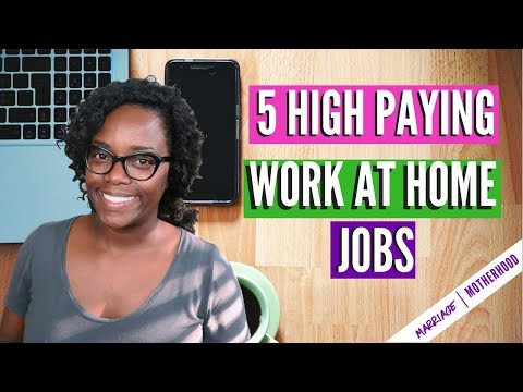 5 High Paying Work from Home Jobs (NO DEGREE REQUIRED) | Work from home 2018