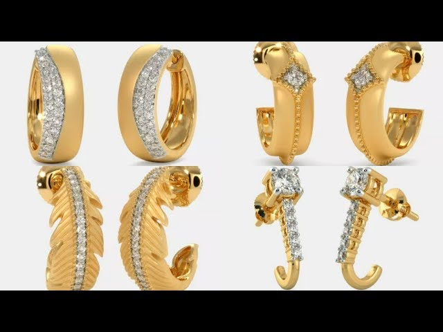 Latest Designer Gold Earrings with Price from Bluestone