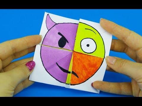 Emoji Diy Paper Magic Card   Face Changer Tutorial For Kids   YouTube