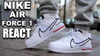 NIKE AIR FORCE 1 REACT REVIEW + ON FEET & SIZING...WORTH THE PRICE?