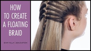 How to Create a Floating Braid with a French Braid Technique
