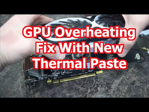 How to fix overheating video card RX570 - New Thermal Paste DIY