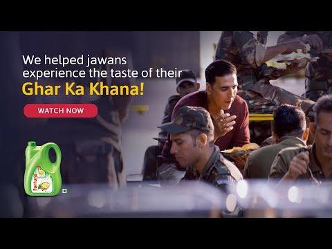 Akshay Kumar & Indian Soldiers - Ghar Ka Khana, ghar ka khana hota hai TVC