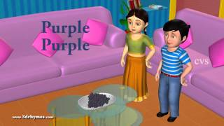 learn colors song for children 3d animation preschool nursery rhymes