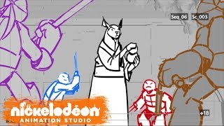 Team Training Animatic | Teenage Mutant Ninja Turtles | Nick Animation