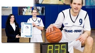 Guinness World Record: 835 3-point basketball throws in 1 hour