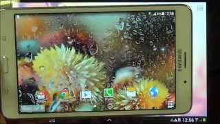 Autumn flowers live wallpaper for android phones and tablets screenshot 3